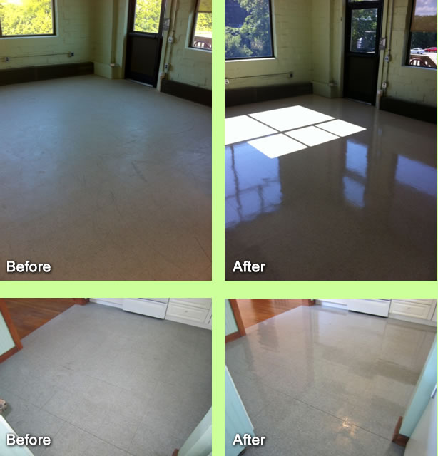 Resurface tile floor